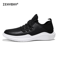 Zenvbnv 2018 Men's Running Shoe Breathable Light Walking Jogging Sneakers White Black Pu Sport Trainers Cheap Men Athletic Sheos
