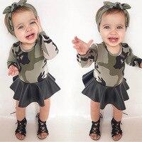 Baby Girls Clothing Fashion Kids Dresses For Girls Autumn Camouflage Children Dress Cotton Long Sleeve Girl