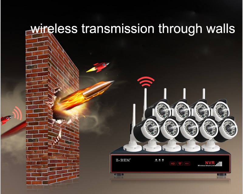 Z-BEN ZB-WK209-1.3MP 2.4G 9CH KIT de vigilancia inalámbrica 9 - Seguridad y protección