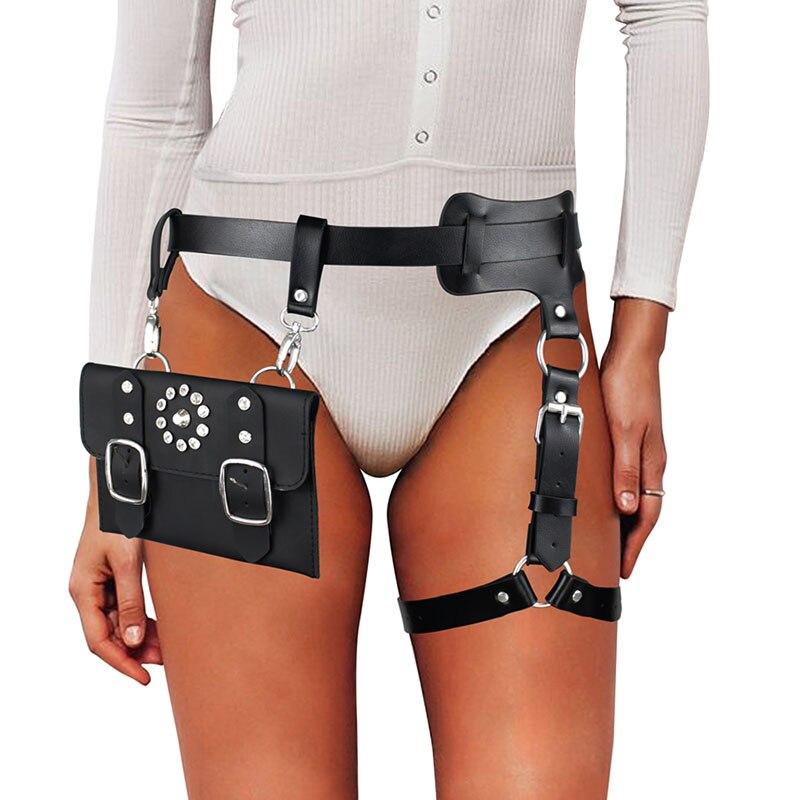 UYEE Трендовое сексуальное женское белье ремень Регулируемый кожаный подвязка для женщин эротический пояс для тела подтяжки жгут LB-007 - Цвет: LP-082