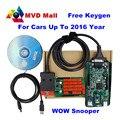 2016 Más Reciente V5.008 R2 WoW SNOOPER Con Bluetooth + Keygen Car Truck de Diagnóstico herramienta Nueva WOW VCI Mejor Que TCS CDP PRO Envío Gratis