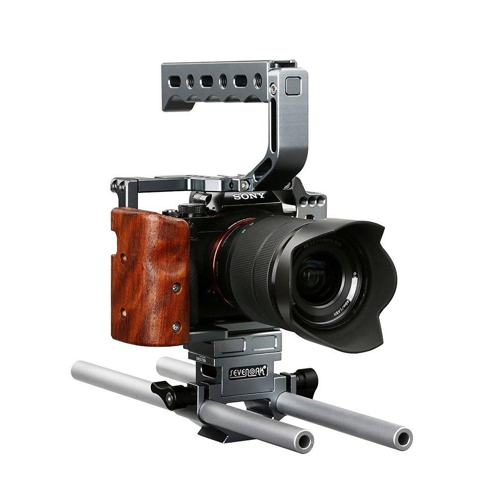 Sevenoak SK-A7C1 Professional DSLR Camera Cage Kit with 15mm Standard Rods for A7 A7S A7R A7 II A7R II Cameras Video Shooting lenspen sensorklear ii sk ii a