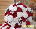 2017 Bridal Bridesmaid Wedding Bouquet Cheap New  White&Burgundy/Red Wine Handmade Artificial Wedding Flowers Bridal Bouquets