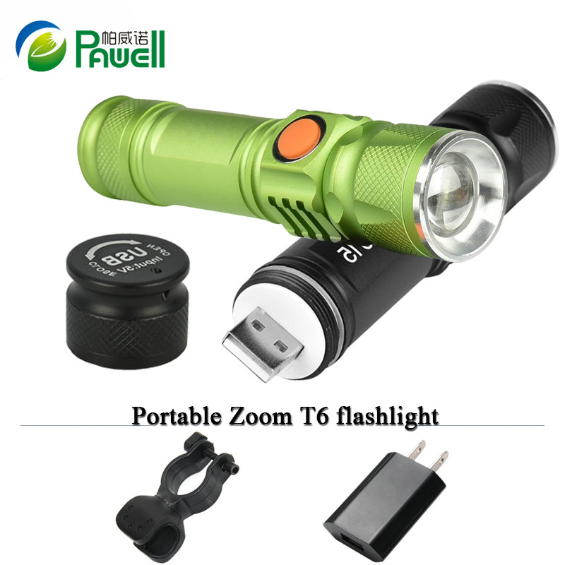 Rechargeable Led Flashlight 2000lm Cree Q5 Hand Lamp Torch Portable Lantern Handed Lamp With 18650 Battery And Charger Sale Price Led Flashlights