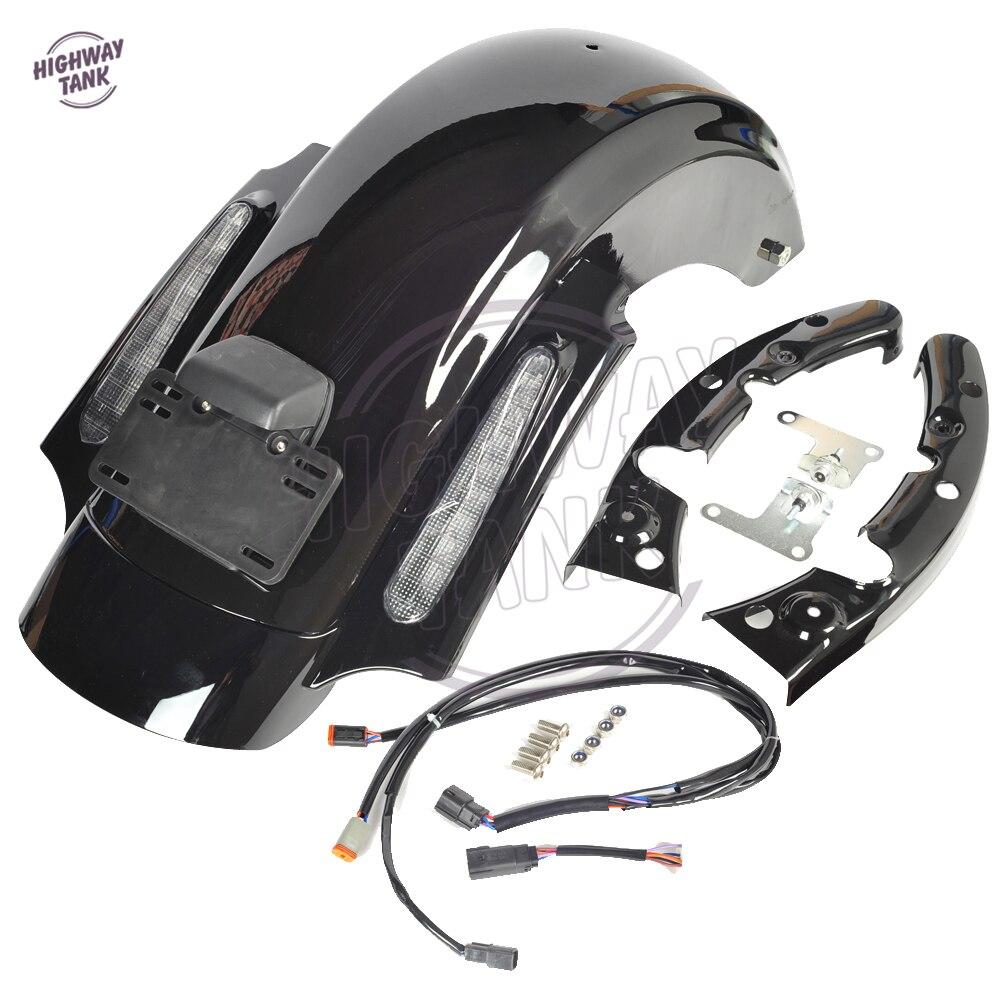Черный мотоцикл Стиль ЦВО случае заднего крыло для Harley Дэвидсон гастроли Электра скольжения 2009-2013