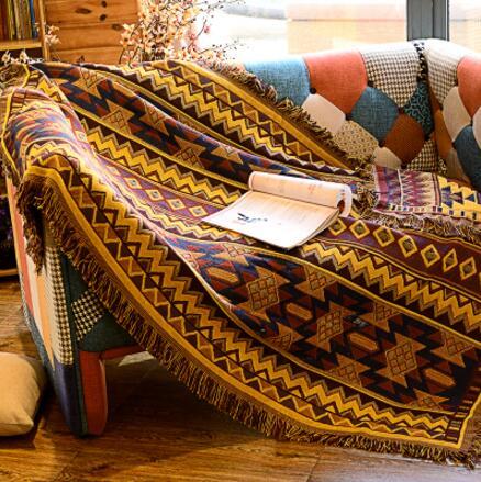 Marocco disegno Nordic Gree Divano Coperta Geometrica Tappeto Per Soggiorno camera Da Letto Tappetini Copriletto Panno di Tabella Della Copertura Della Polvere Arazzo