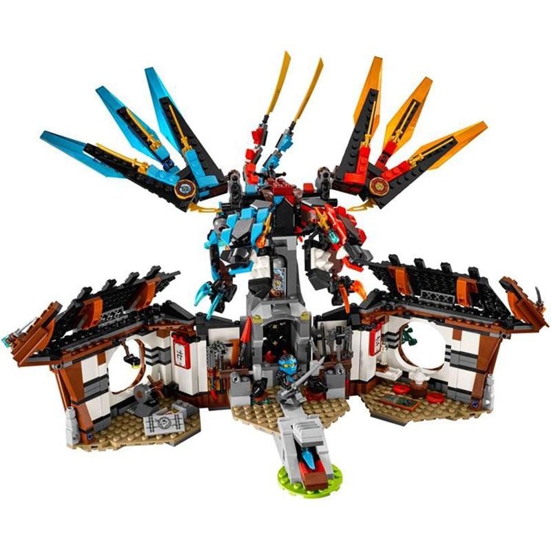 Pogo Lepin Ninjagoe Thunder Swordsman Dragon's Forge Building Blocks Bricks Toys Compatible With Bela Decool Compatible Legoe pogo lepin 755pcs 10325 db x masters ofpinjitzu phantom ninjagoe thunder swordsman building blocks bricks toys compatible legoe