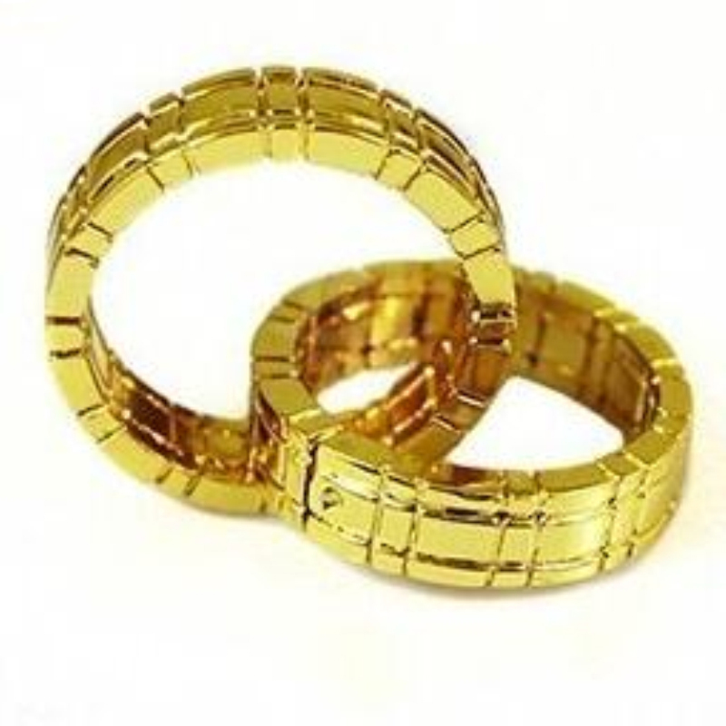 Free shipping Himber Ring Cool Style Stage Close-Up Magic Trick gold color