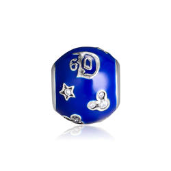 Подходит Пандора браслет 60th юбилей талисманы бусины серебро 925 оригинальные для изготовления ювелирных изделий kralen perles boncuk Шарм