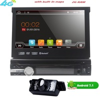 7 Universal Single 1 Din Android 7 1Quad Core Car DVD Player GPS Navi AutoRadio For