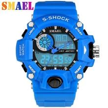Nueva Moda Reloj Deportivo Hombres Impermeable S-shock Relojes Militares LED Relojes de Los Hombres Reloj de Cuarzo de Doble Pantalla Al Aire Libre Hombre