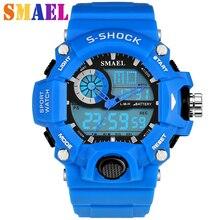 New Fashion Sports Watch Men Waterproof S-Shock Military Watches LED Quartz Dual Display Outdoor Men's Wristwatches Reloj Hombre
