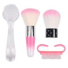 FWC щетка для чистки ногтей, инструменты, пилочка для ухода за ногтями, маникюр, педикюр, мягкое удаление пыли, маленький угол, щетка для очистки ногтей