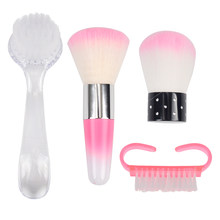 FWC Nail Cleaning Nail Brush Tools File Nail Art Care Manicure Pedicure Soft Remove Dust Small Angle Clean Brush for nail care(China)