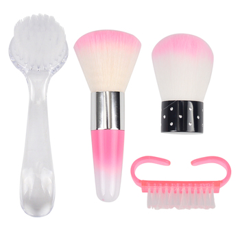 FWC  Nail Cleaning Nail Brush Tools File Nail Art Care Manicure Pedicure Soft Remove Dust Small Angle Clean Brush for nail care