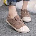 {D & H} 2016 Zapatos de Marca MJ Mujeres Mantener Caliente Zapatos de Lona Del Cordón de Zapatos Casuales, Además de Terciopelo hasta Pisos de tenis feminino damas formadores