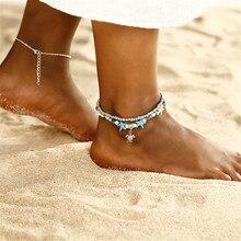 ECODAY Foot Bracelet Charm Ankle Bracelet Beach Summer Jewelry Tortoise Pendant Anklets For Women Leg Bracelet Chain Tobilleras цена