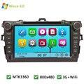 "8 ""MTK MT3360 Wince 6.0 Dvd-плеер Автомобиля Радио Видео Стерео GPS для TOYOTA Corolla 2006 2007 2008 2009 2010 2011 Поддержка WI-FI 3 Г"