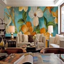 Милые Цветущий frangipani фон со старой стеной на заказ high-end росписи Фабрика, обои настенные Фотообои