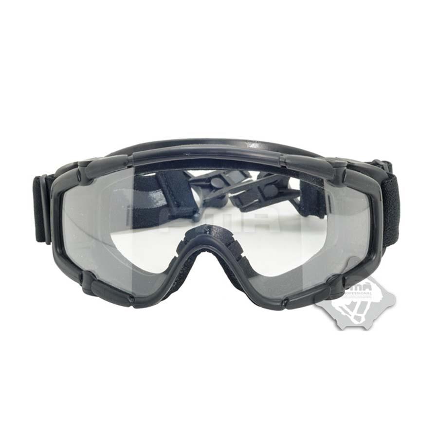 Esportes do Esqui Óculos de Proteção para Capacete Preto Paintball Airsoft Óculos Anti Nevoeiro Ballistic & Mod. 89316