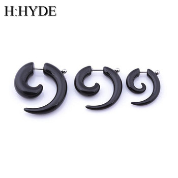 H HYDE men women spiral ear taper snail ear expanders piercing black body jewelry faux ear.jpg 350x350 - H:HYDE men women spiral ear taper snail ear expanders piercing black body jewelry faux ear plug tunnel pircing septum tragus DY