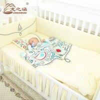 Комплект постельного белья хлопок новорожденных 100% 8 в 1, Пейсли узор, моющиеся, младенческой Постельное белье для девочек и мальчиков, детск