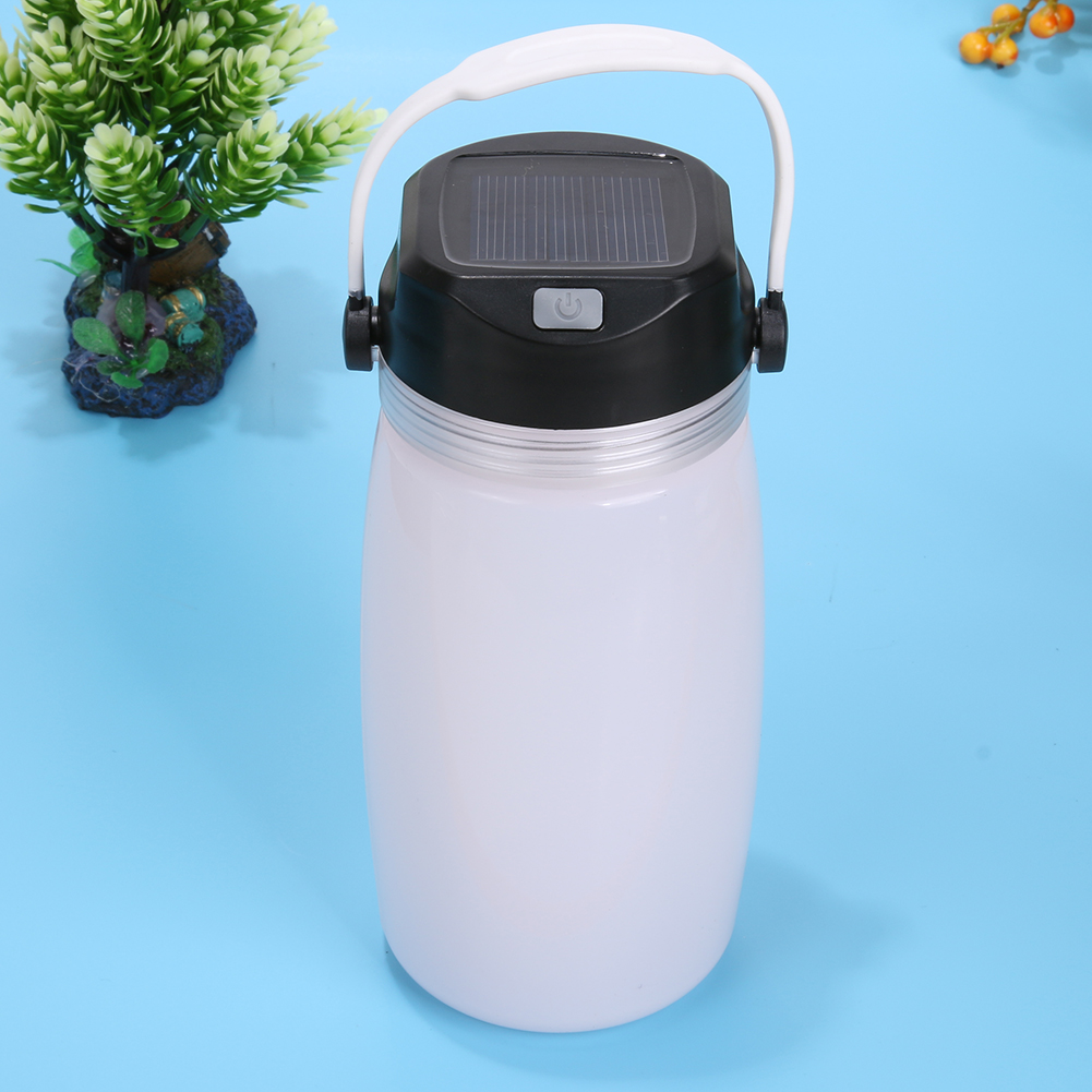 4.2V Rechargeable Solar Lantern Camping Light Outdoors Silicone Water Glass Lamp Camping Lantern Tent Lights