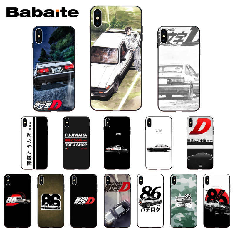 0a63d4297e6 Babaite INITIAL D AE86 DIY impresión dibujo funda de teléfono carcasa para  iPhone Xr XsMax 8