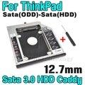 Alta Qualidade 12.7 m SSD mSATA Para Sata 3.0 HDD caddy gabinete caso optibay para ibm lenovo thinkpad r400 r500 t420 t430 T520