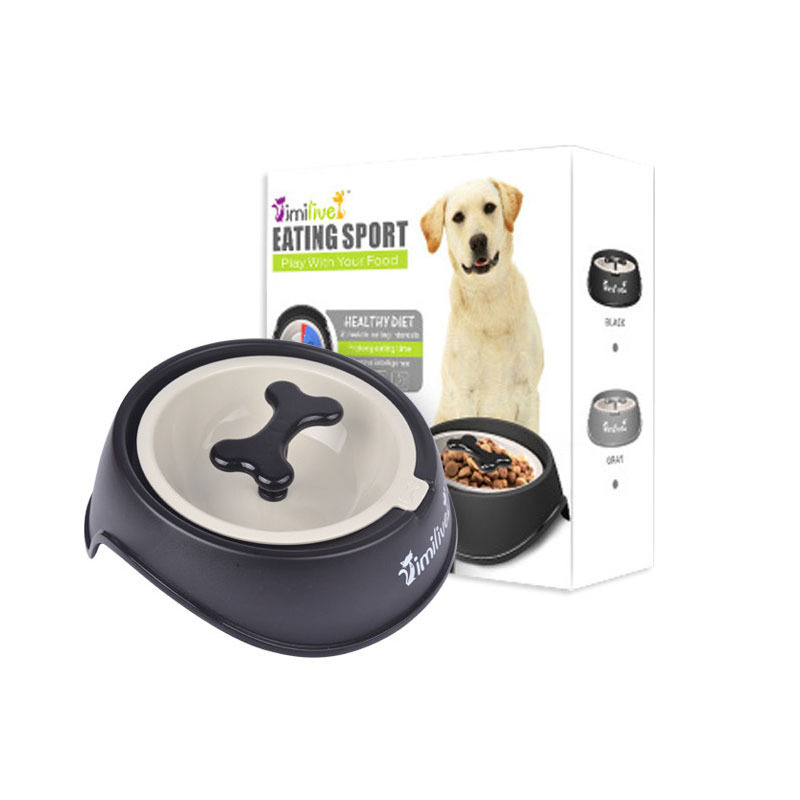 KIMHOME PET Dog Treats Snacks Anti Choke Bowl Thickening Plastic Bone Pet Dog Bowl Dog Slow Feeder For Small Medium Dogs Cats in Dog Feeding from Home Garden