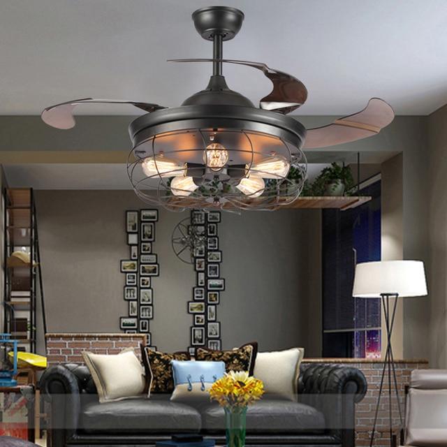 Led e27 loft stainless steel acryl ceiling fan led lampled light led e27 loft stainless steel acryl ceiling fan led lampled lightceiling lights aloadofball Choice Image