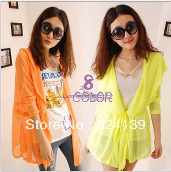 2013 Hot Sale Women Lace Sweet Candy Color   Blouse  Cardigan 8 color Free Shipping