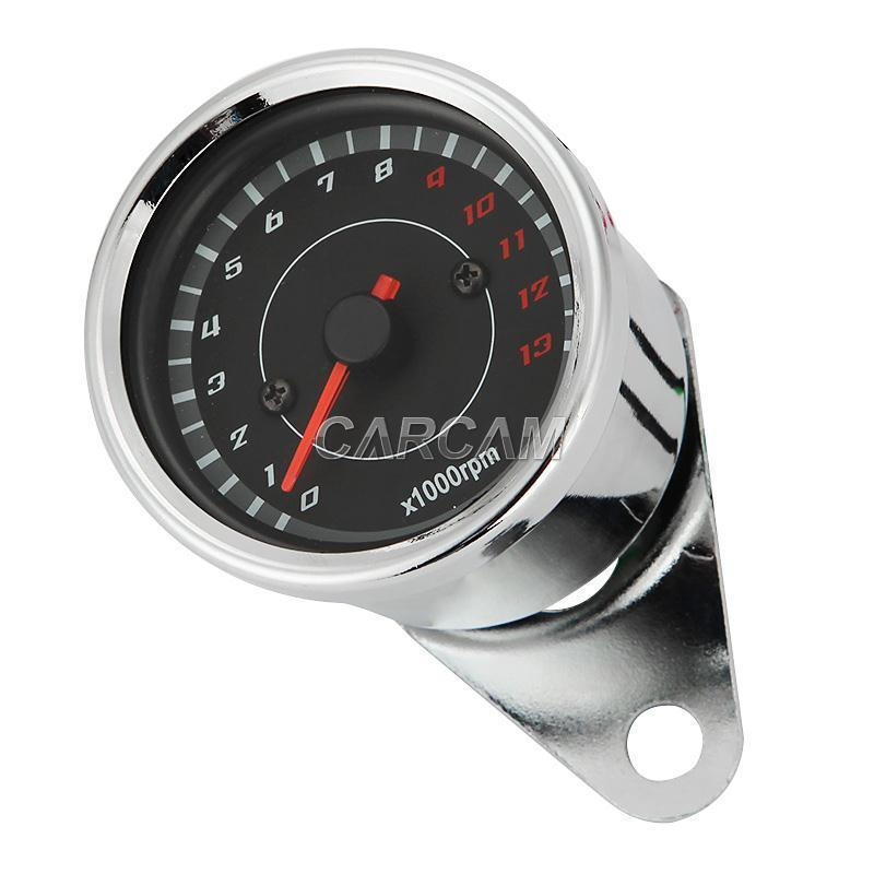 Motorcycle Tachometer Gauge For Suzuki Honda Harley Yamaha ... old school motorcycle gauges