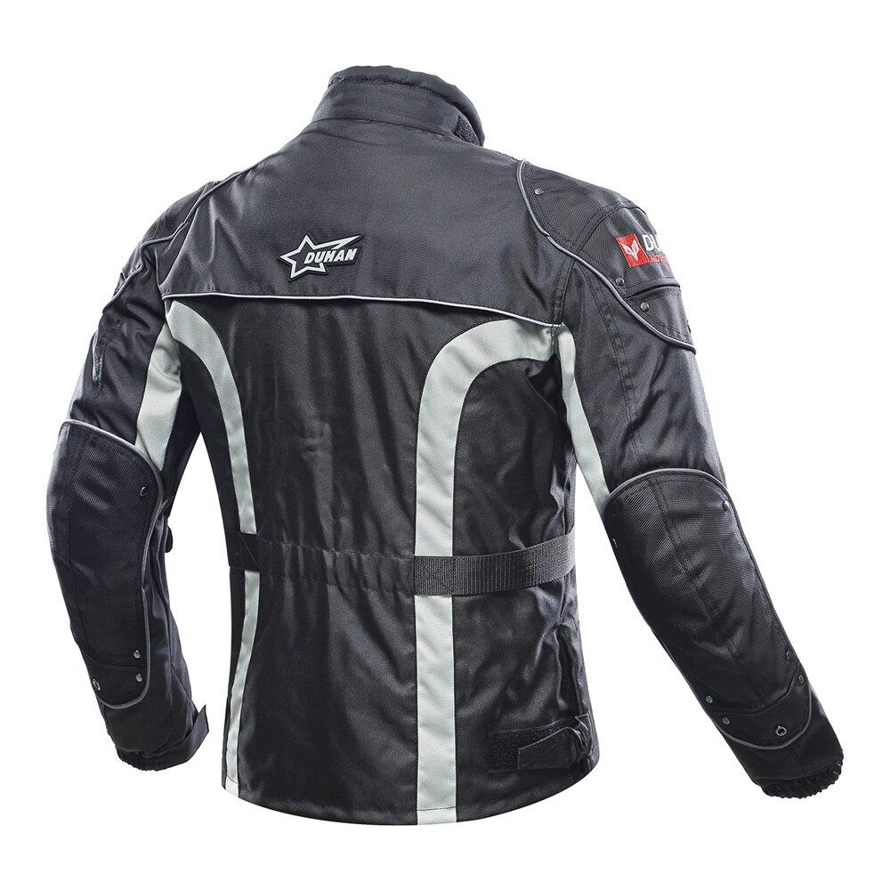 DUHAN Moto Veste Kits Coupe-Vent équipement de protection Veste + ensemble de pantalon Hanche Protecteur costume d'équitation pantalon de Moto Moto Veste - 3