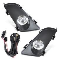CITALL Car Lighting Front Right Left Clear Fog Lights Lamp Lens w/Wiring Kit 12V 55W for Mazda 6 2003 2004 2005