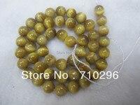 La peine d'acheter! 5 brins/lot Golden tiger eye 8mm ronde gem pierre perles 15.5