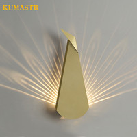 Nordic современный павлин свет Гостиная коридор Настенные светильники Спальня прикроватные Железный LED Бра