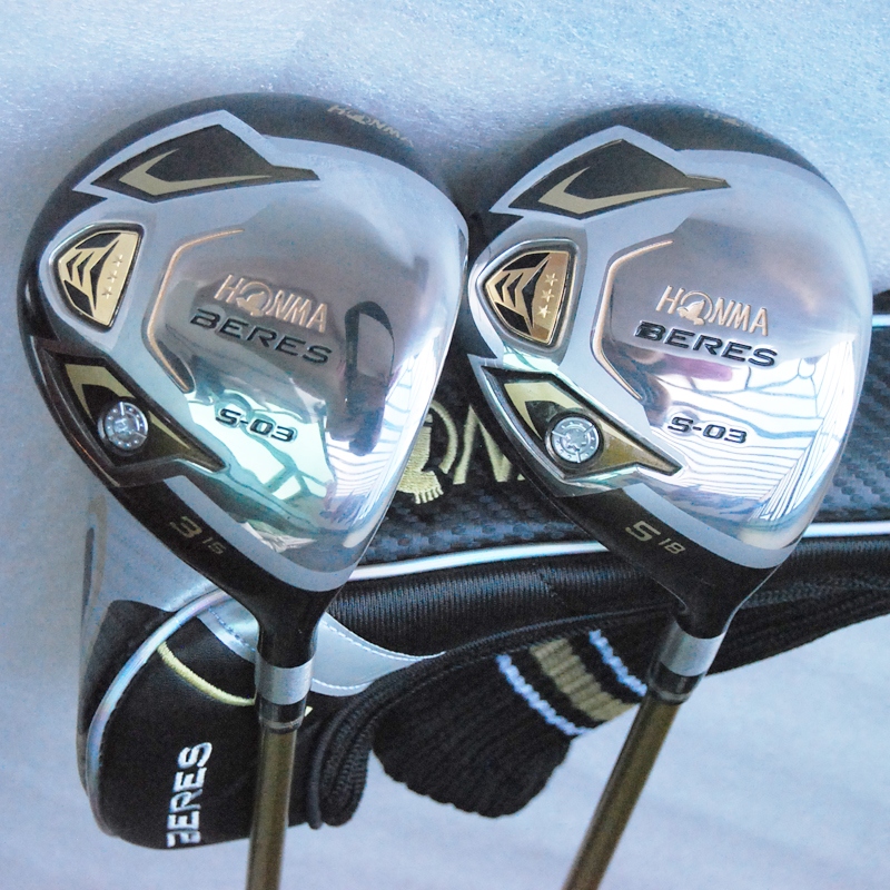 Cooyute New Golf Clubs HONMA S-03 3Star Golf Fairway Woods set 3/15 5/18 Graphite Golf shaft Clubs headcover Free shipping new mens cooyute golf clubs honma s 05 4star golf wood complete set driver with fairway woods graphite golf shaft free shipping