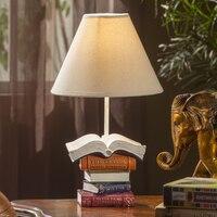 Домашняя настольная лампа Европейский классическая спальня настольная лампа исследование Творческий Ретро Книга настольная лампа ya73117