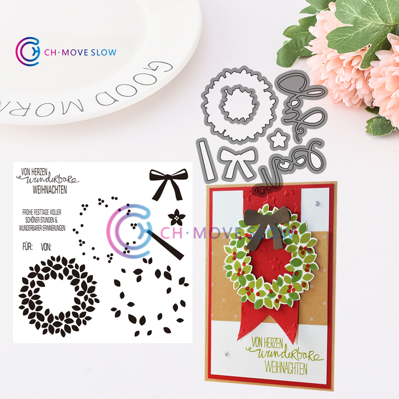 Diy Weihnachten 2019.Us 1 9 Su Retired Willkommen Weihnacht 2019 New Arrival Metal Cutting Dies And Stamps Diy Scrapbooking Card Paper Craft Stamp Die Set In Cutting