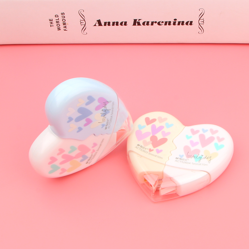 2Pieces/ Pair Creative Heart To Heart Love Correction Tape Kawaii Stationery Novelty Office Kids School Supplies