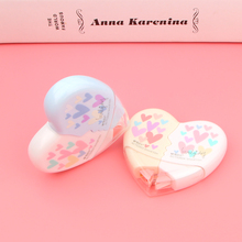 2Pieces/ Pair Creative Heart to Love Correction Tape Kawaii Stationery Novelty Office Kids School Supplies