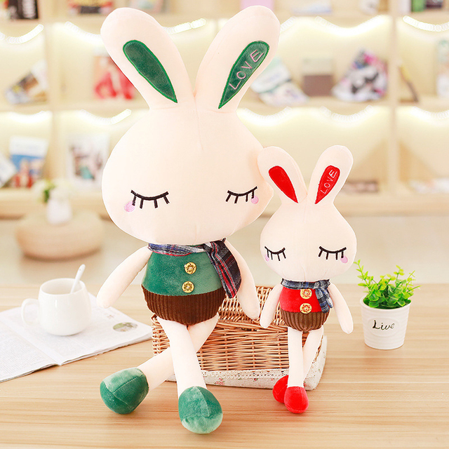 Lovely Best-selling sale Large stripe Stuffed & Plush Animals bunny doll plush toy rabbit children and girls holiday gift sale