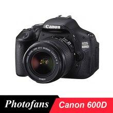 """Цифровая камера Canon 600D Rebel T3i Dslr с объективом 18-55 мм-18 Мп-3,"""" угол обзора lcd-1080 p видео"""