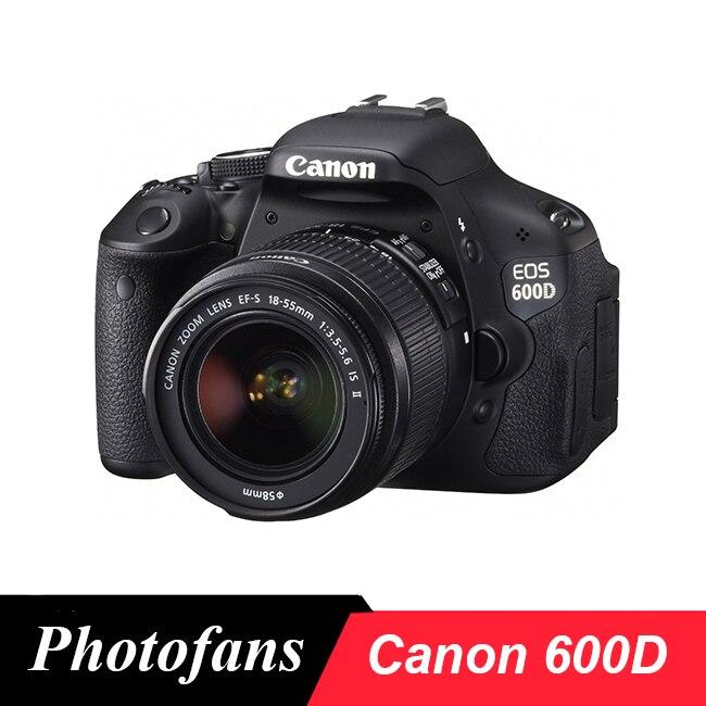 Canon 600D rebelle T3i Dslr appareil photo numérique avec objectif 18-55mm-18 MP-3.0