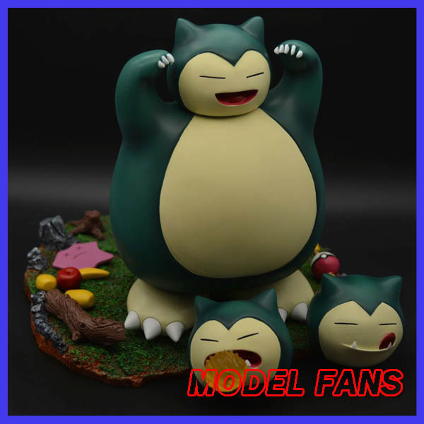 MODEL FANS IN-STOCK 23cm poket monster Snorlax GK resin made figure toy for Collection model fans in stock the same paragraph tsume 50cm fist of the north star lao gk resin made for collection