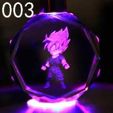 16 pçs muito dragon ball z anime chaveiro de cristal figuras dos desenhos animados son goku wukong figura luz led chaveiro saco pingente chaveiro