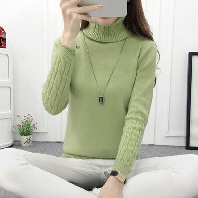 208c55db864 Women s Turtleneck Thick Warm Sweaters  Pullovers