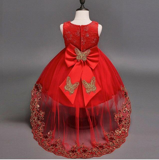20caa80d3 Vestidos formales para niñas fiesta de cumpleaños boda encaje rojo azul  edad 2 3 4 5