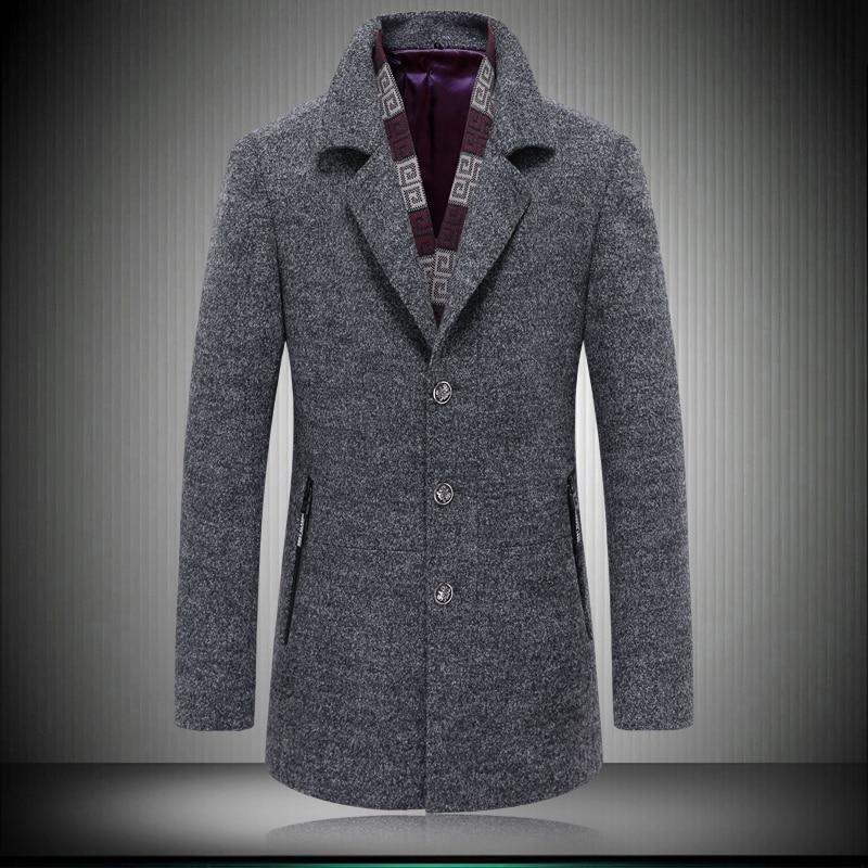 Écharpe Hommes Manteau Taille xxxl M Mince Épaississement Hiver Gris Mode rouge Plus Amovible Vêtements Couleur Laine Veste La 2 qIH10wH